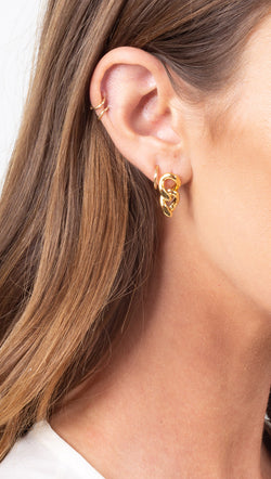 étoile Gold Dipped Chain Stud Earrings
