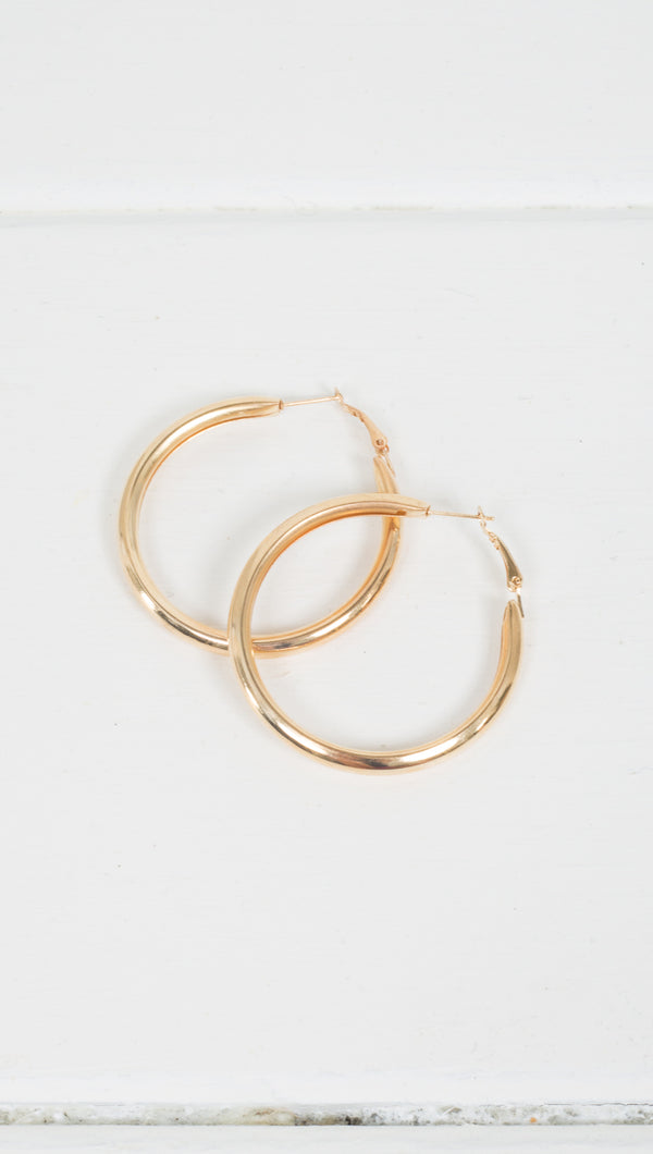 Jordan Thick Hoops - Gold