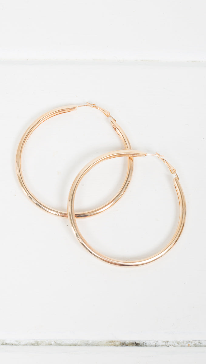 Etoile Thick Jordan Gold Hoop Earrings