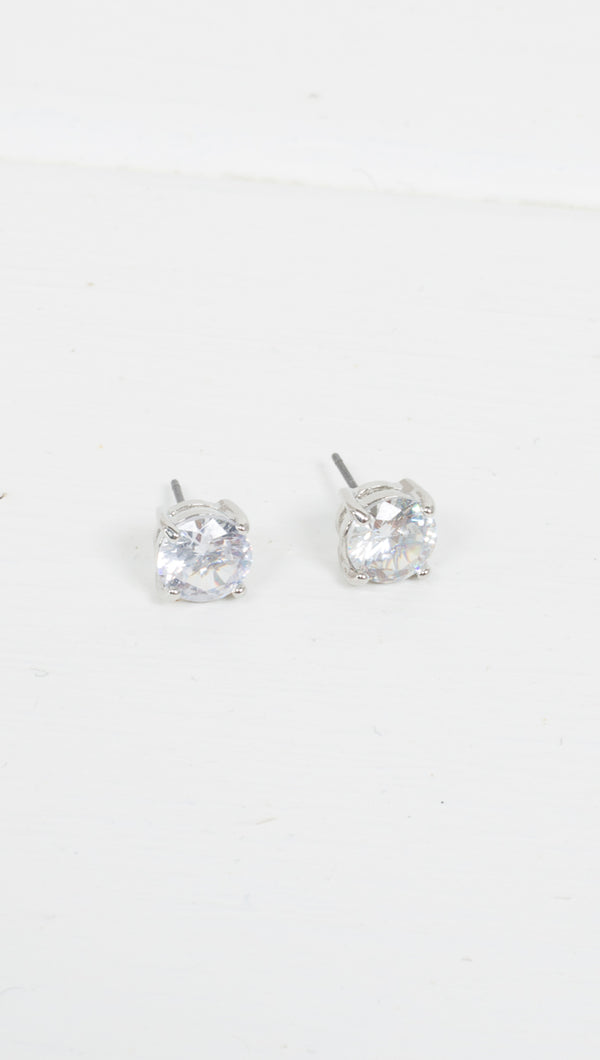 Etoile Silver Stud Earrings