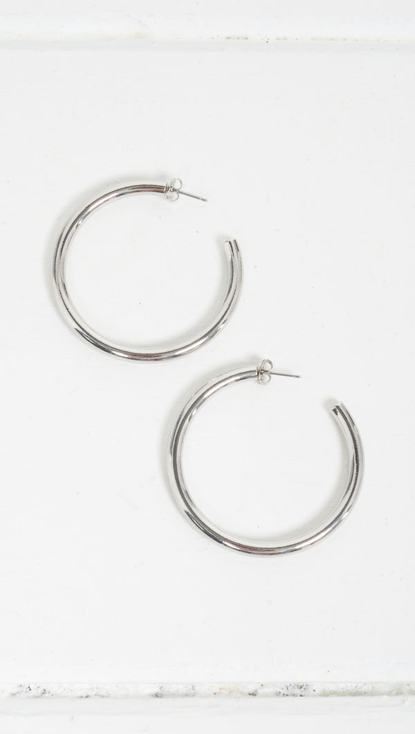 Lily Detached Hoops - Silver