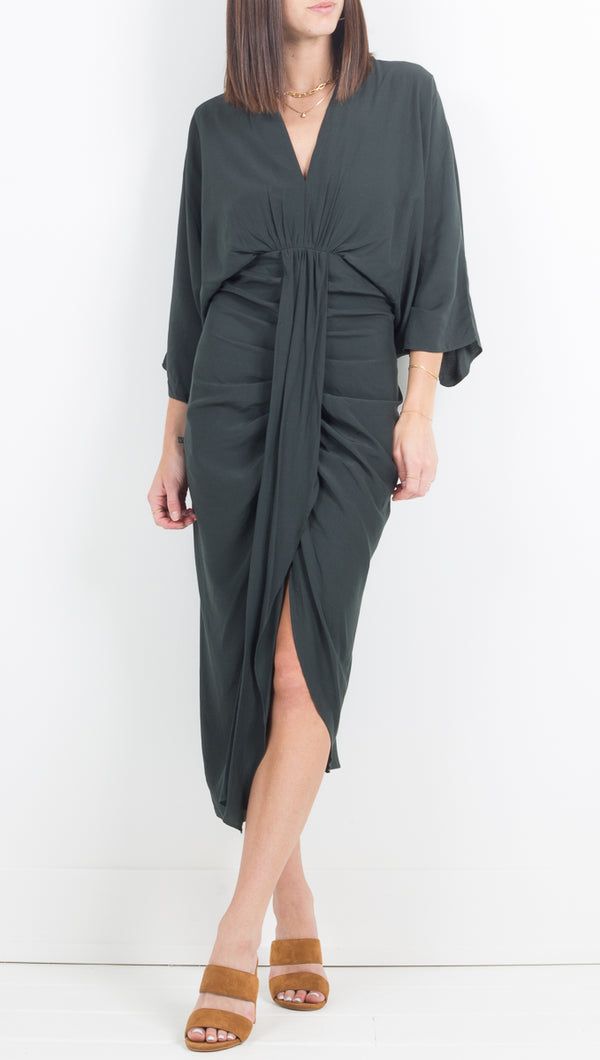 Etoile Monaco Ebony Quarter Sleeve Midi/Maxi dress