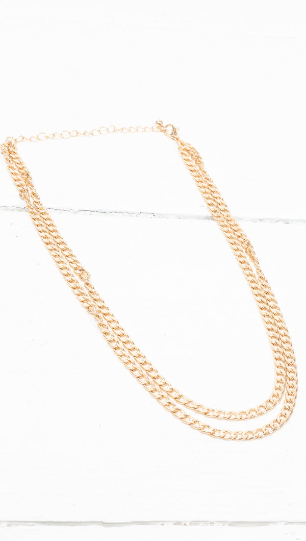 Pre-Layered Chunky Chain - Gold