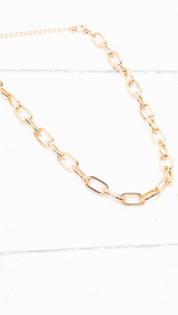 Haley Link Necklace - Gold Plated