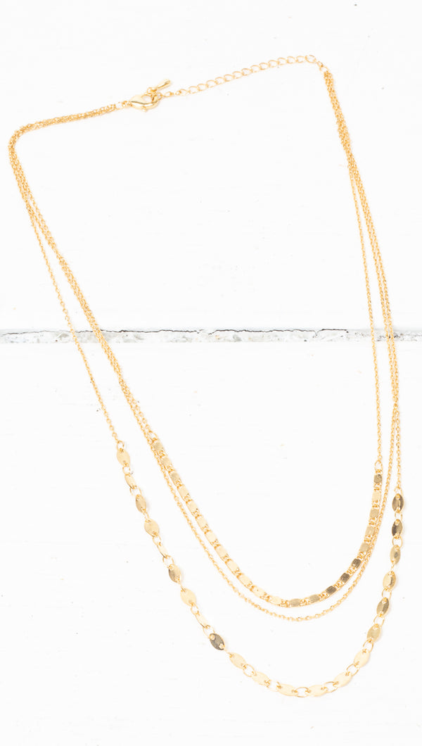 Serena Prelayered Necklace - Gold