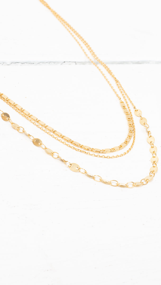 étoile Gold Multi-Layered Necklace
