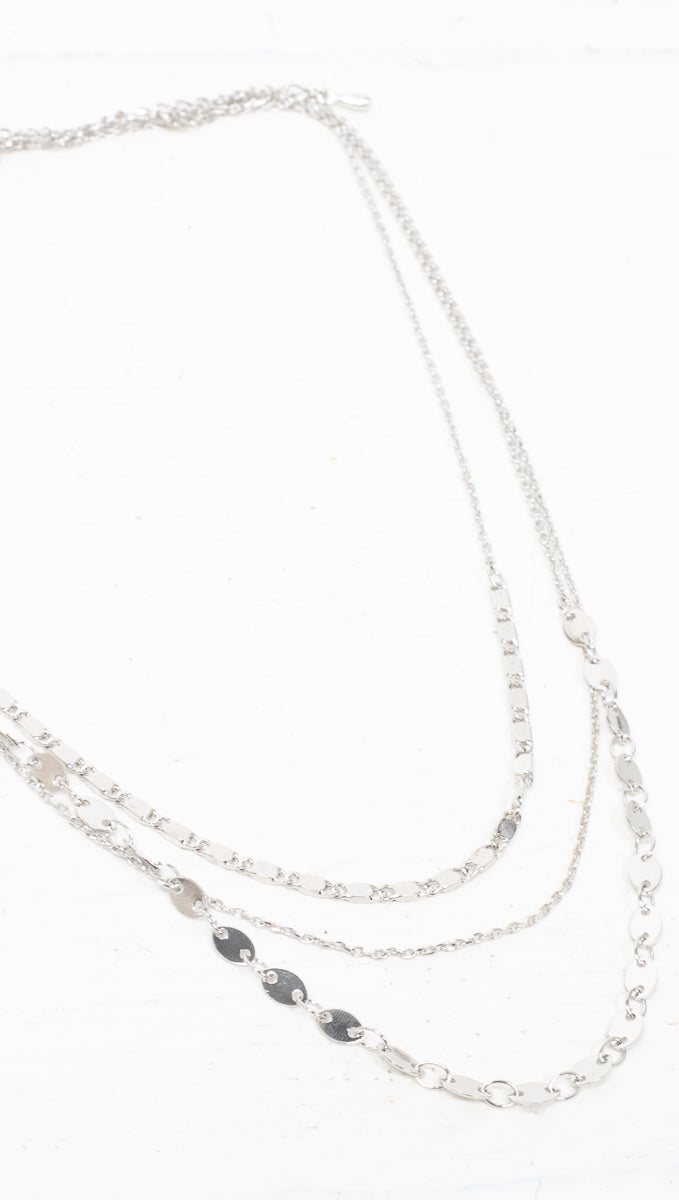 étoile Silver Multi-Layered Necklace