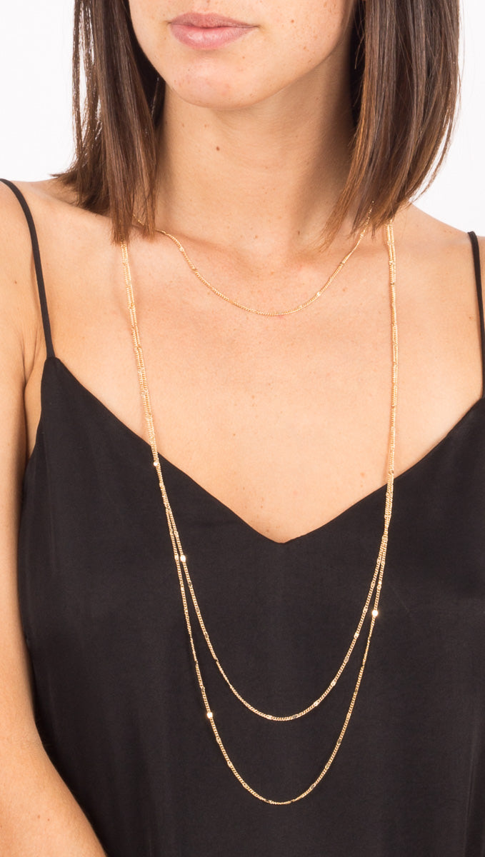 Prelayered Necklace - Gold