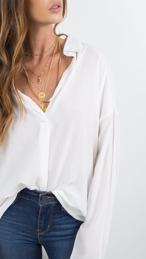 Sail Away Blouse - Ivory