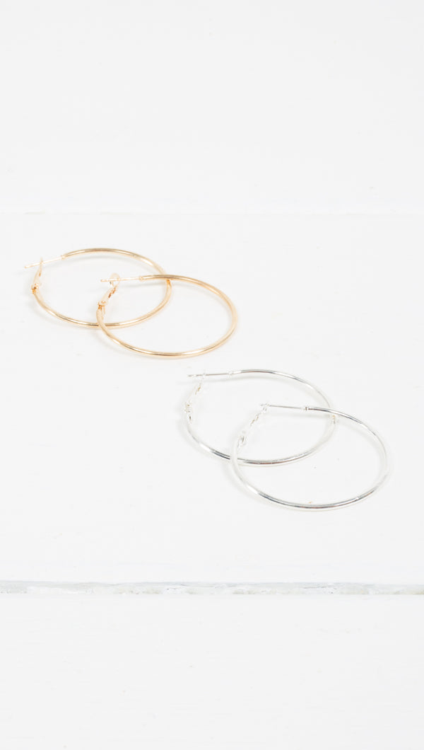 Sarah Thin Hoops - More Colors