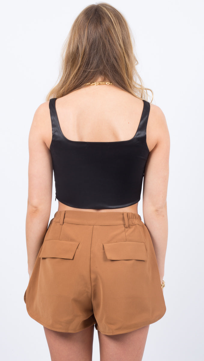 Sasha Crop Top - Black