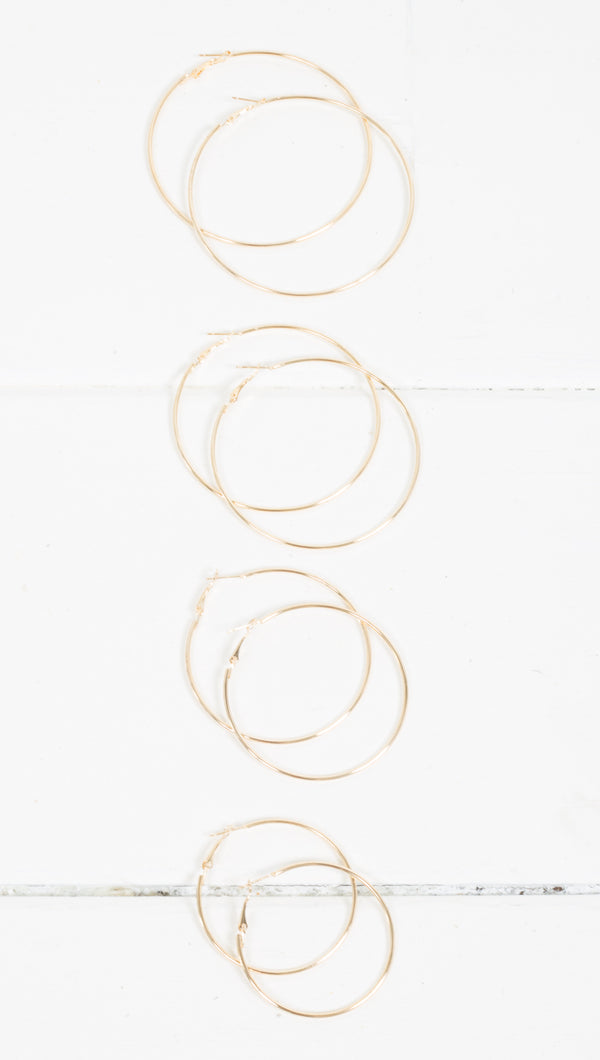 Etoile Super Thin Gold Hoop Earrings in Multiple Sizes