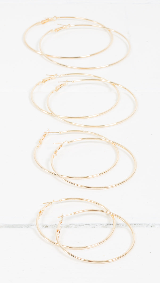Shay Hoops - Gold
