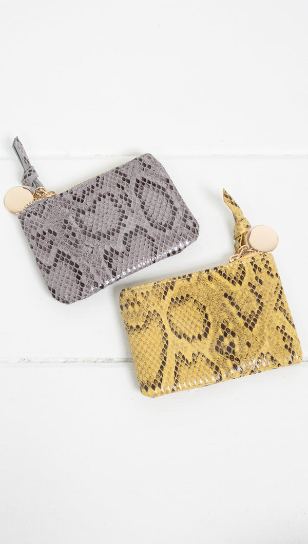 Etoile Snake Zip Coin Pouch