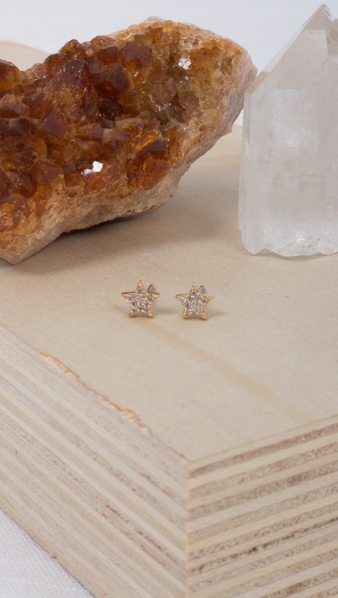 Starry Eyed Studs - Gold