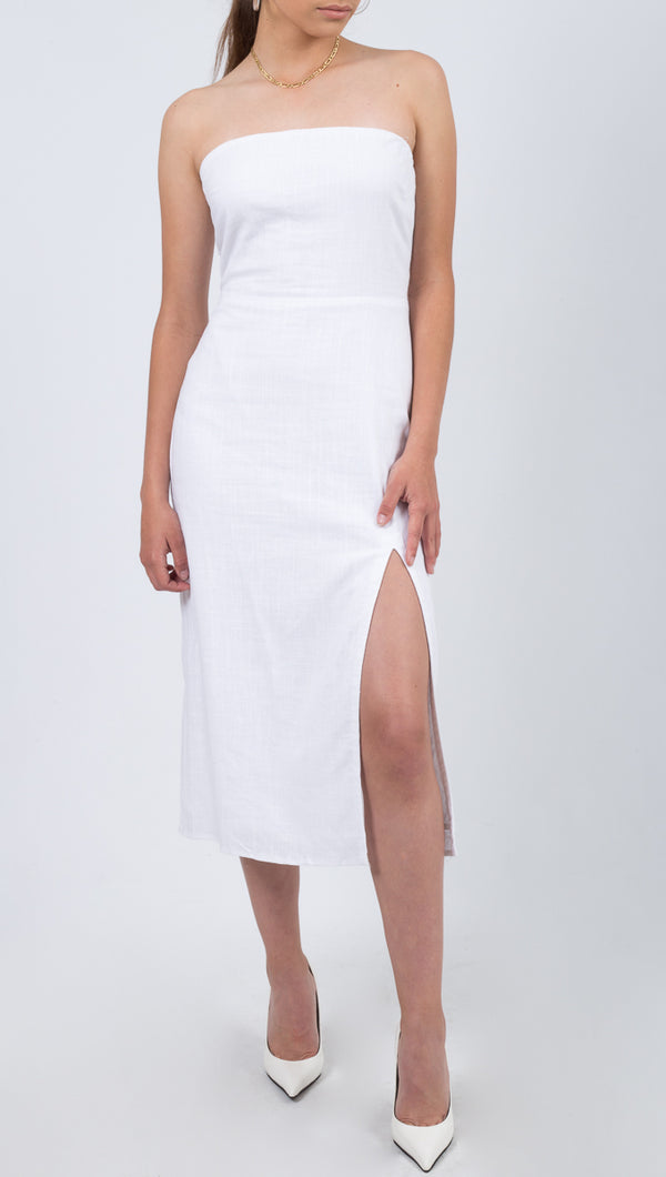 Wailea Midi Dress - White