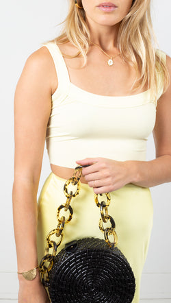 El Sol Crop Tank - Lemon