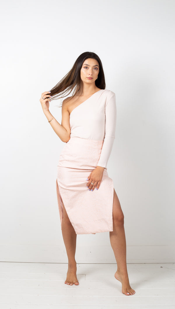 Sierra One Shoulder Top - Pink