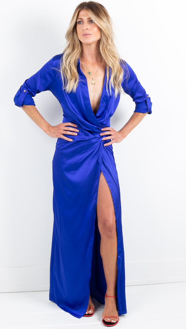Amelia Maxi Dress - Royal Blue