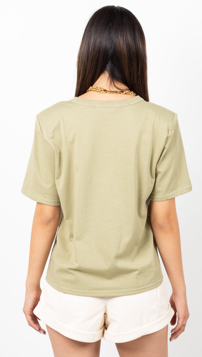 Andrea Padded Short Sleeve Shirt - Sage