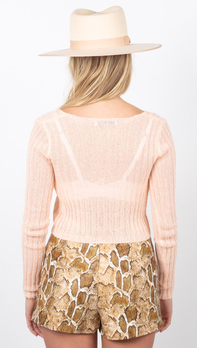 Georgia Sweater - Peach