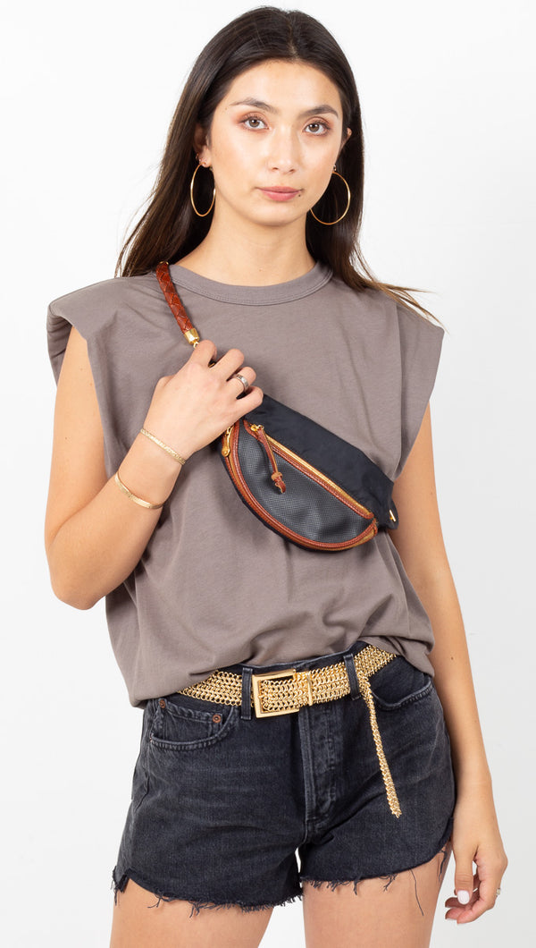 Andrea Padded Shoulder Shirt - Graphite