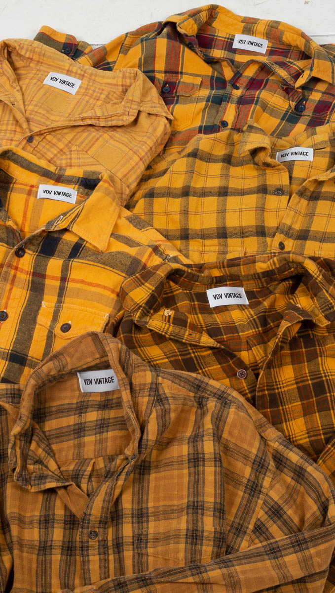 Vintage Plaid Flannel - Yellow