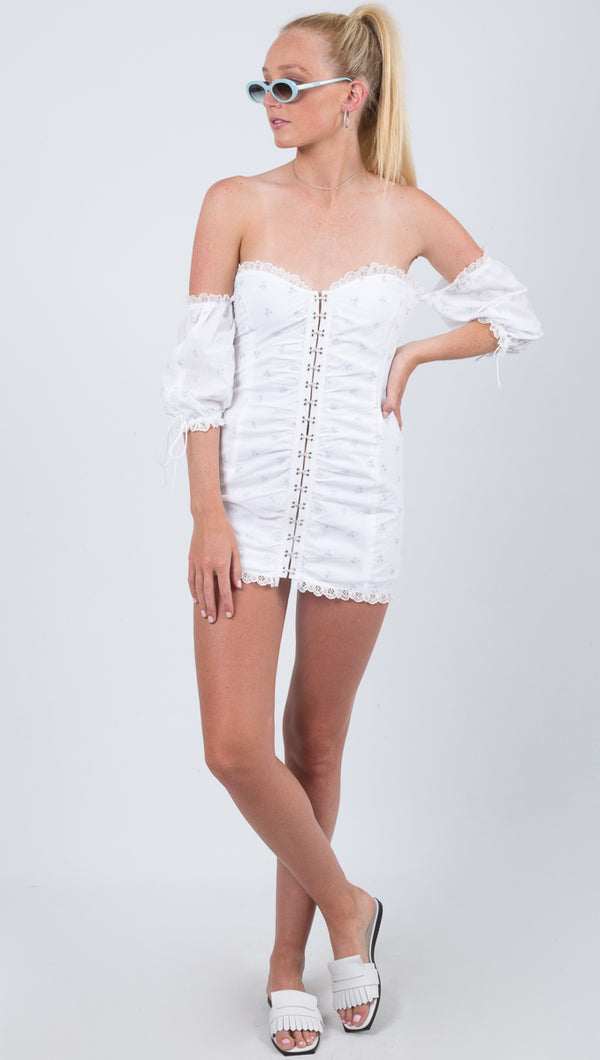 Magnolia Mini Dress - White