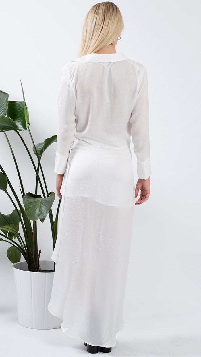 Verona wrap maxi skirt - white