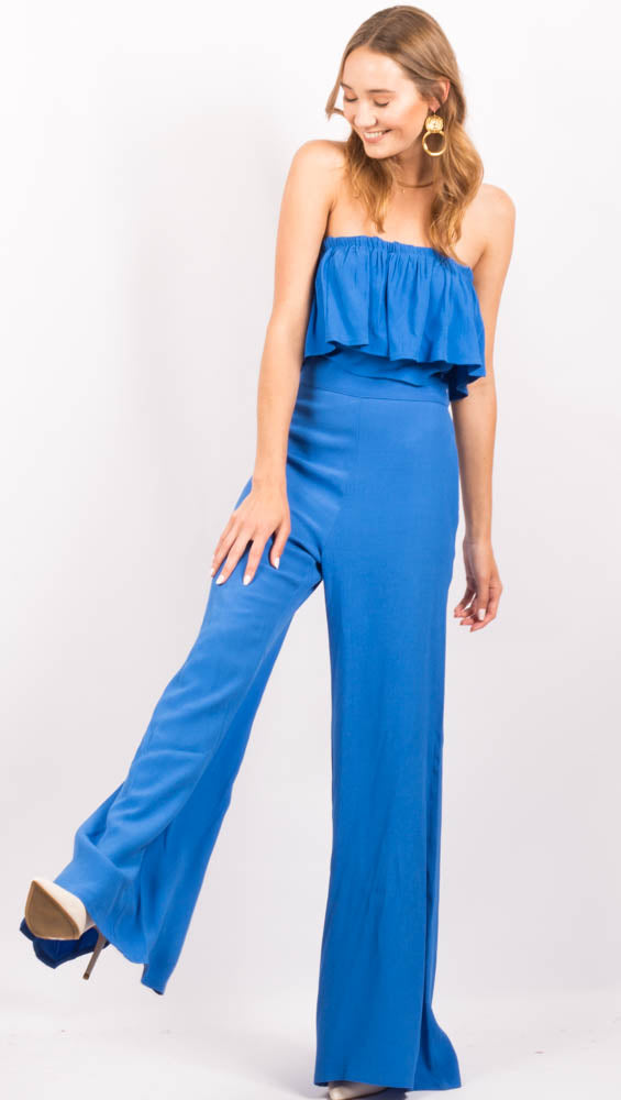 Blue High Waist Pants