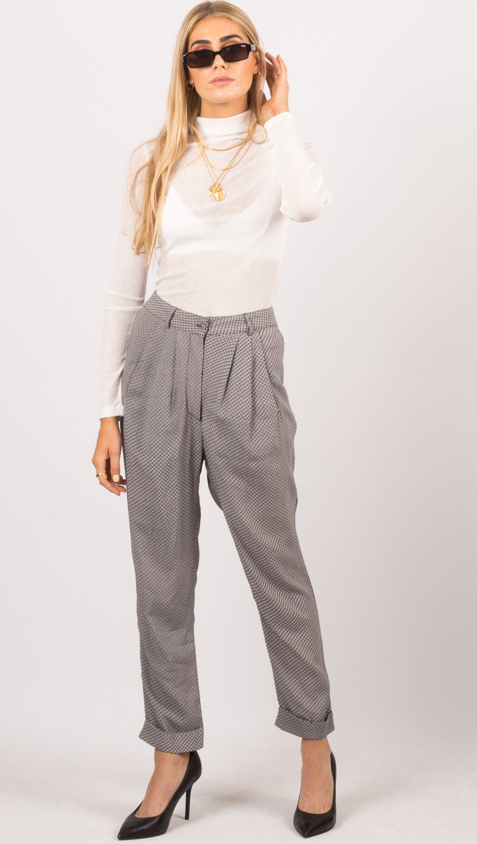 Flynn Skye Navy Plaid Pants