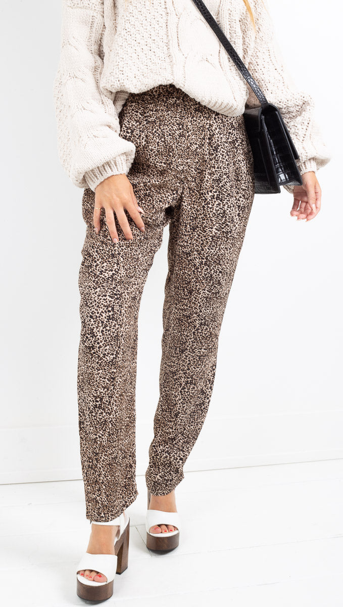 Flynn Skye leopard fitted pants