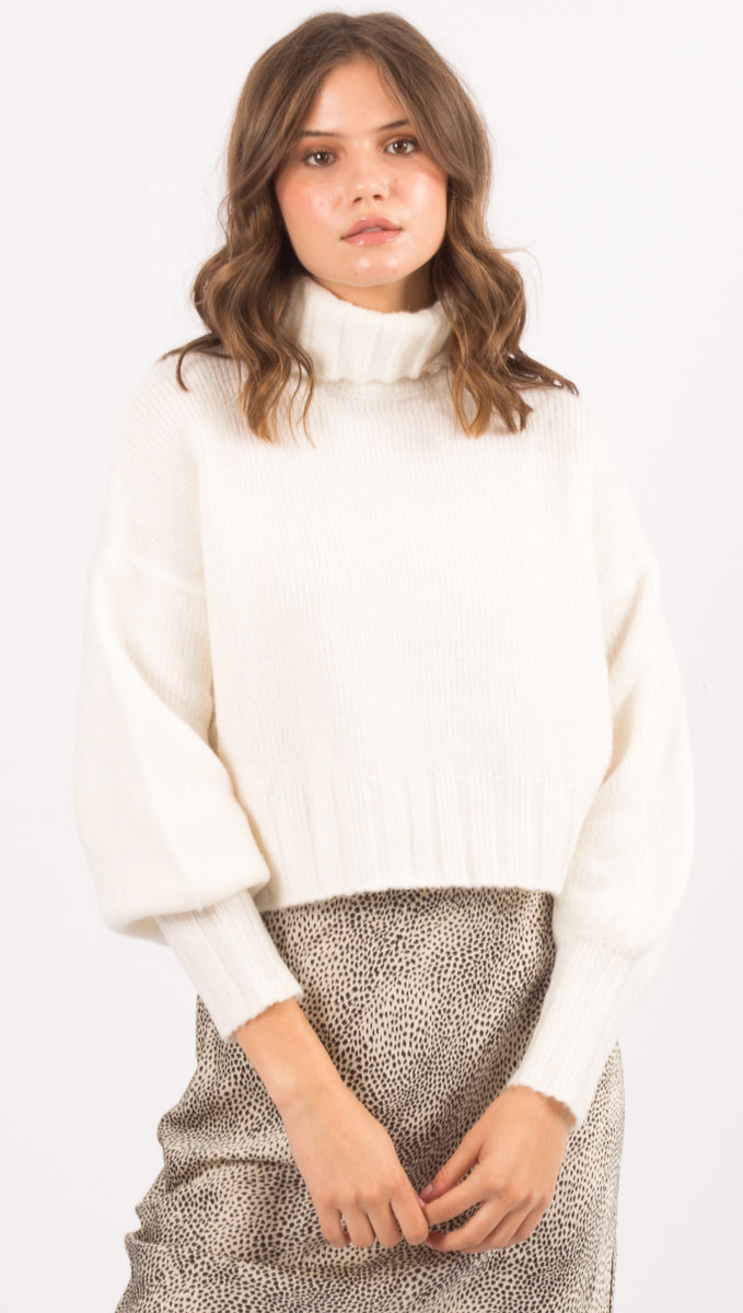 Dylan Turtleneck Sweater - Ivory
