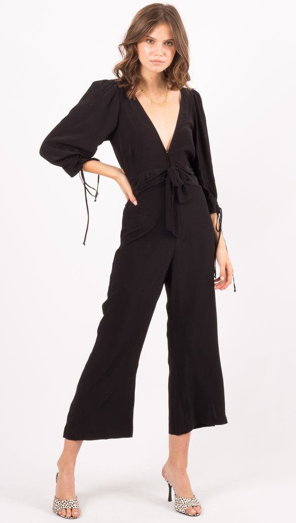 For Love And Lemons Black Jumpsuit