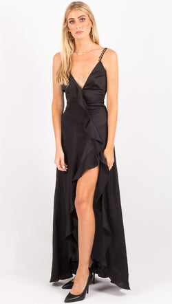For Love And Lemons Black Maxi Dress