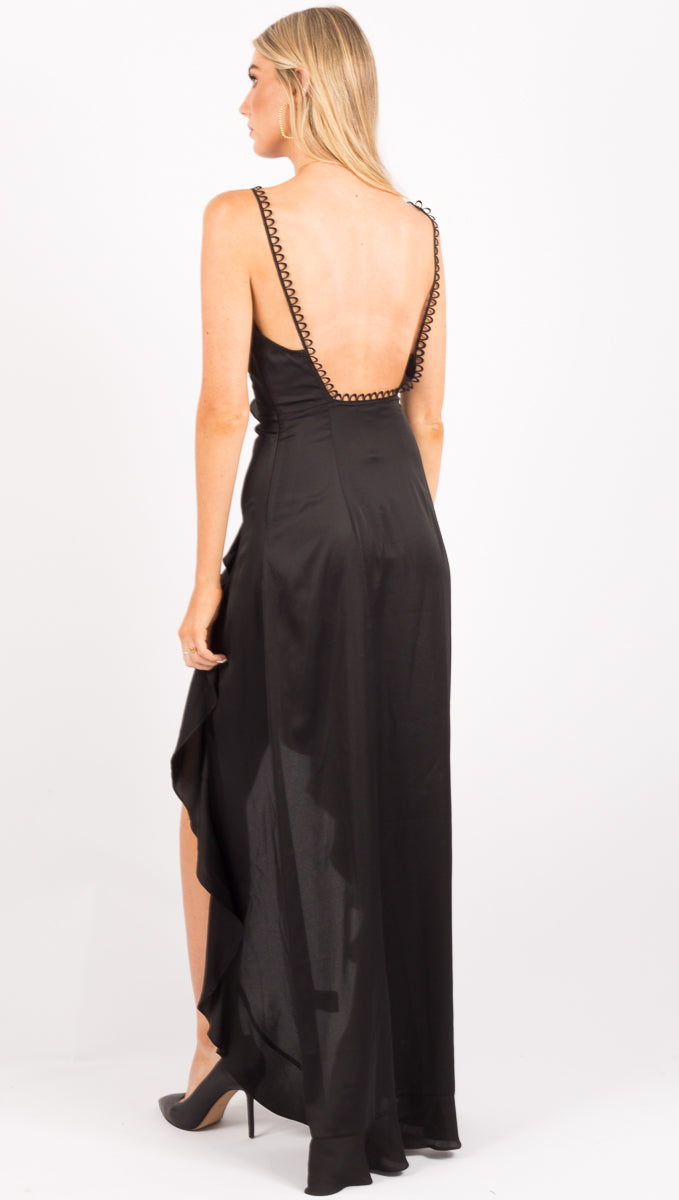 Isabella Ruffled Maxi - Black