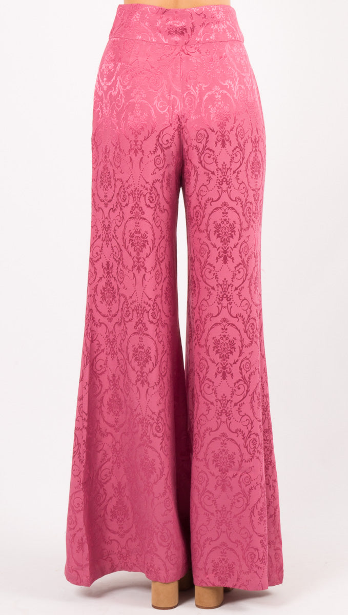 Lara Wide Leg Trouser - Dusty Rose
