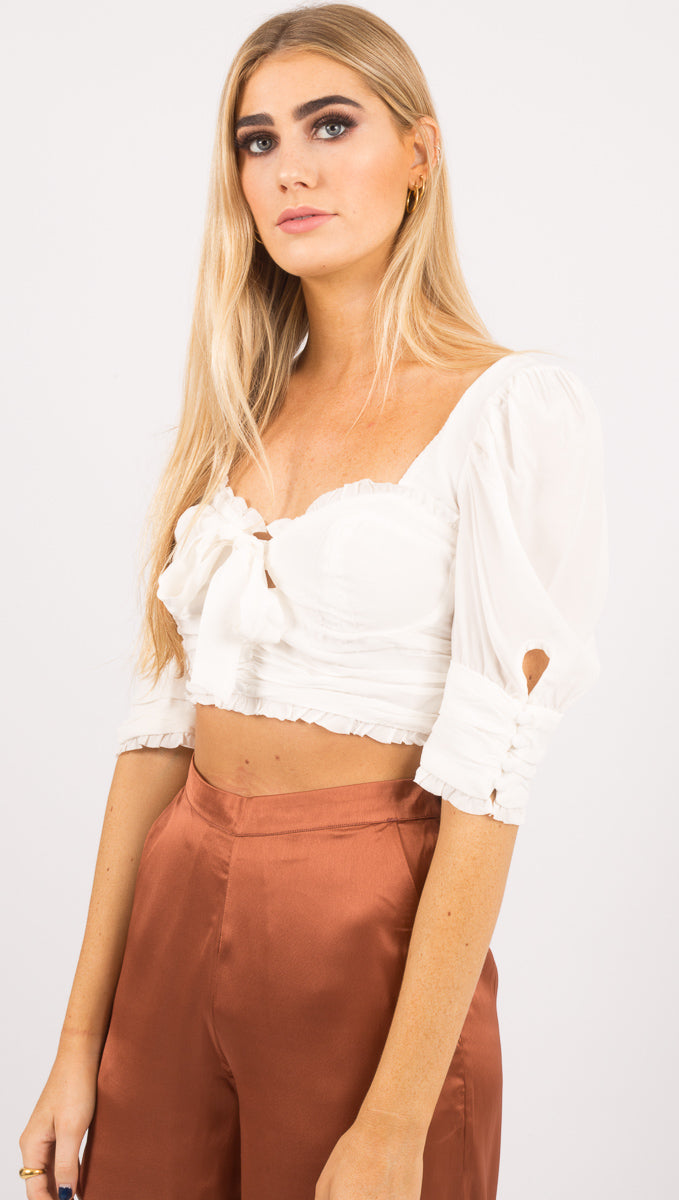 Royale Crop Top - White
