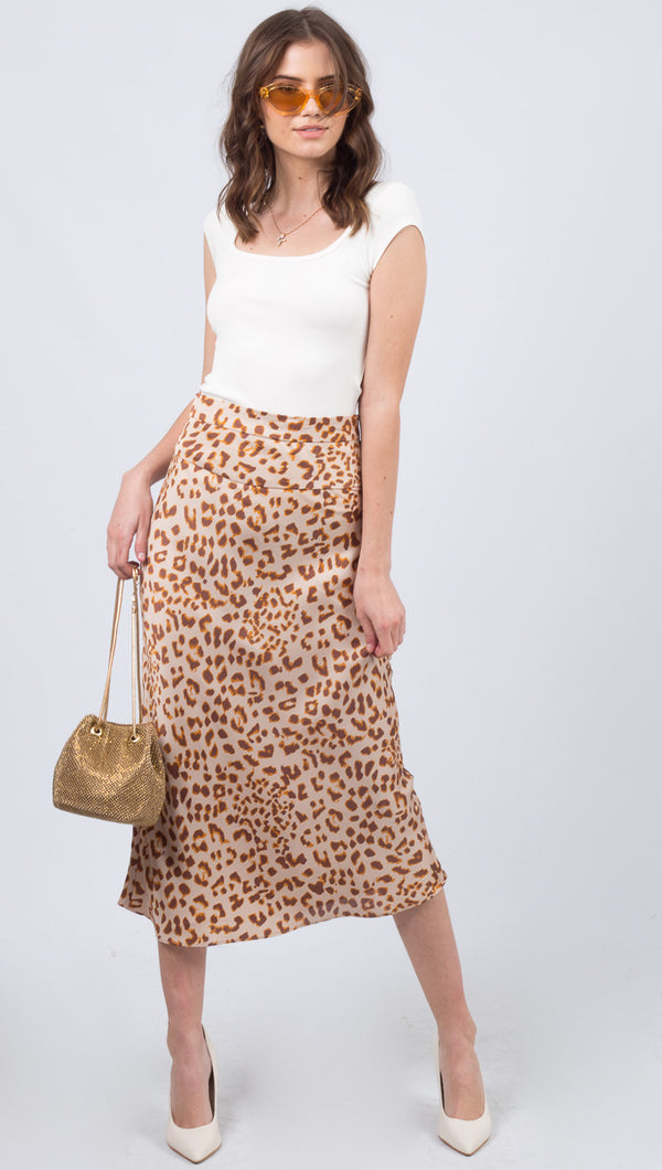 Normani Bias Skirt - Camel Combo