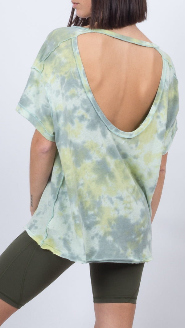 All Mine Tie Dye Tee - Sea Green Combo
