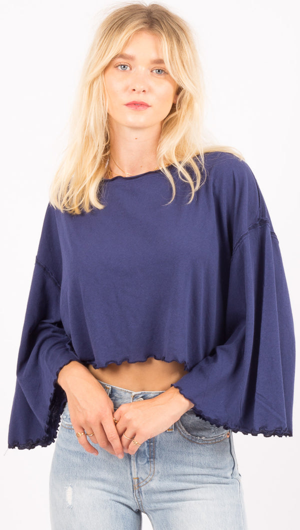 Free People Blue Top