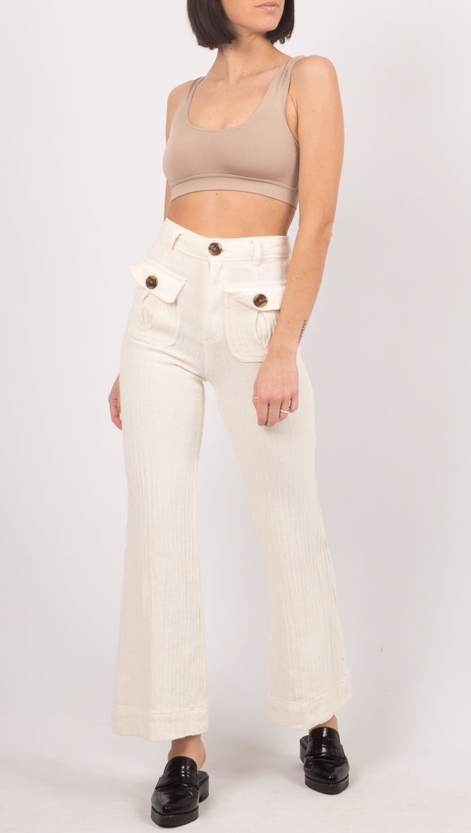 Free People White Pants
