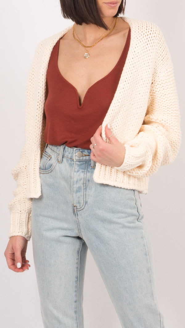 Glow For It Cardi - Ivory