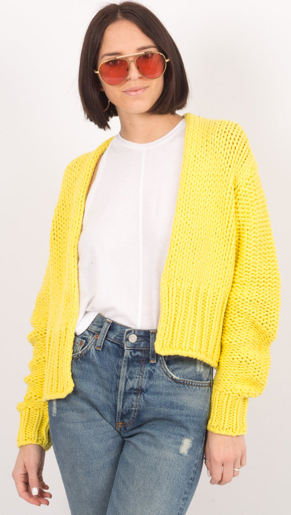 Glow For It Cardi - Lemon