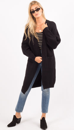 Free People Black Knit Cardigan
