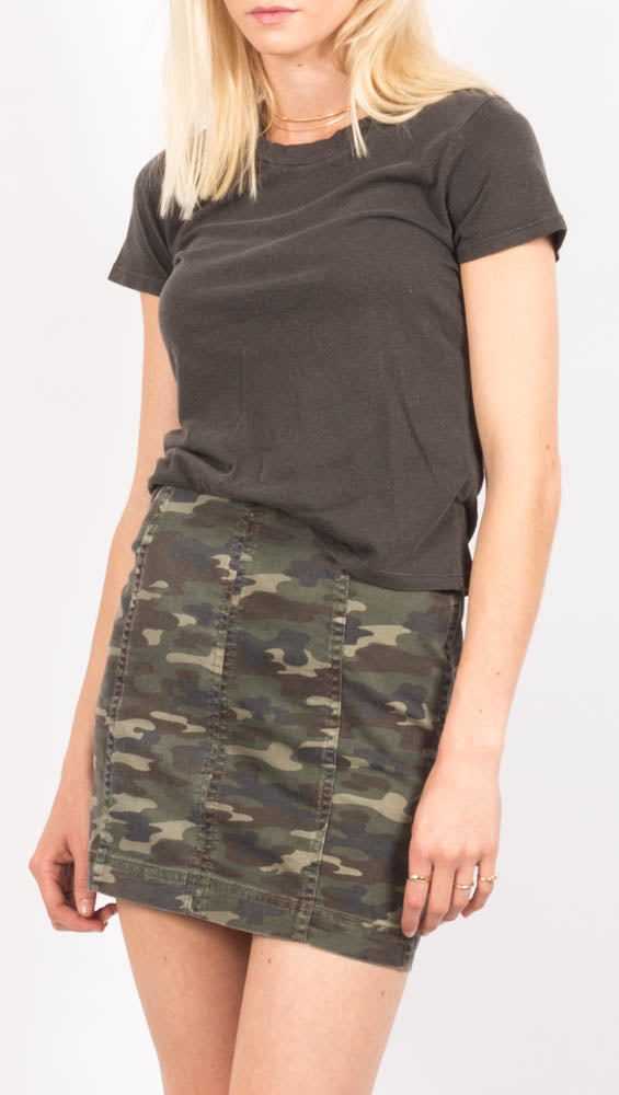 Camo High Waist Mini Skirt