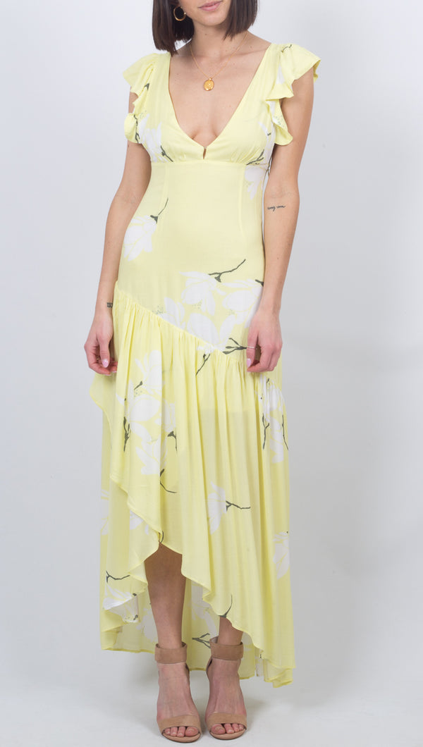 She's A Waterfall Maxi - Yellow Combo