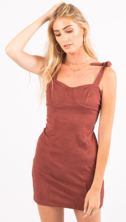 Free People Terracotta Mini Dress