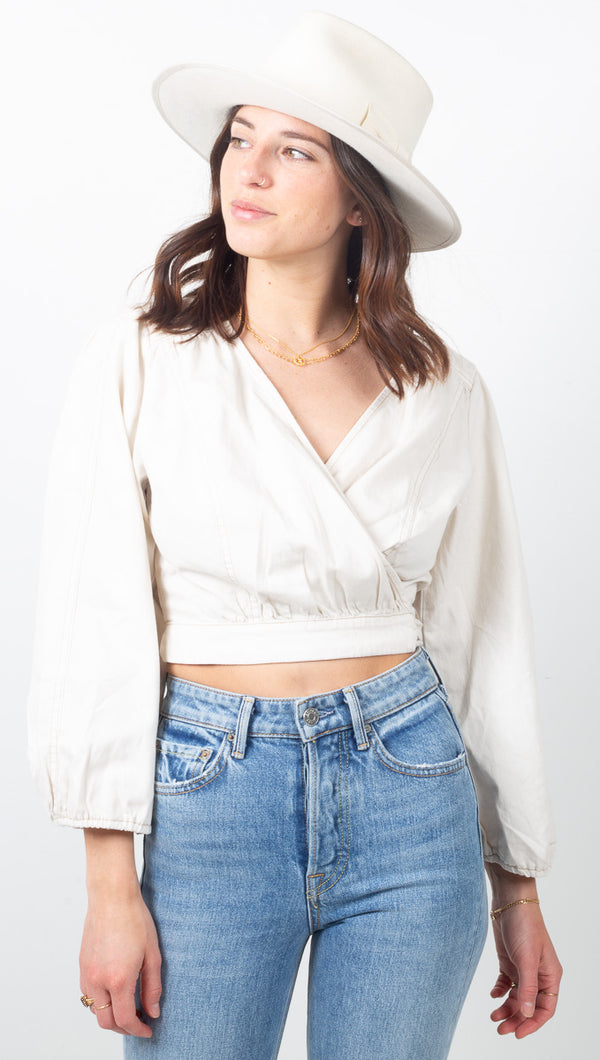 Sophie Solid Top - White