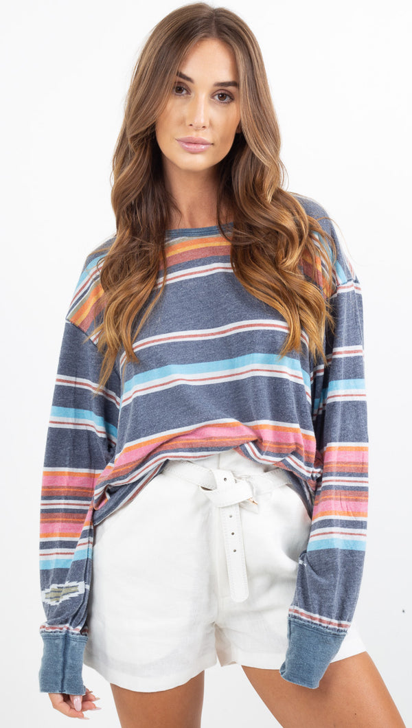 Arielle Printed Long Sleeve - Sunset Combo